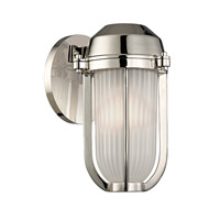 Hudson Valley Lighting Pompey 1 Light Wall Sconce in Polished Nickel 980-PN