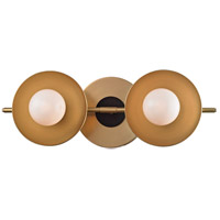 Julien LED 13 inch Aged Brass Bath Wall Light, Opal Matte
