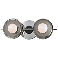 Hudson Valley 9802-PN Julien LED 13 inch Polished Nickel Bath Wall Light Opal Matte