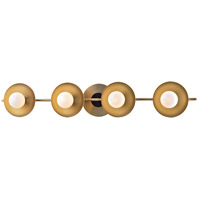 Julien LED 27 inch Aged Brass Bath Wall Light, Opal Matte