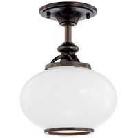 Canton 1 Light 9 inch Old Bronze Semi Flush Ceiling Light