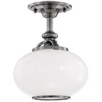 Hudson Valley 9809F-ON Canton 1 Light 9 inch Old Nickel Semi Flush Ceiling Light