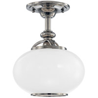 Hudson Valley 9809F-PN Canton 1 Light 9 inch Polished Nickel Semi Flush Ceiling Light