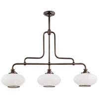 Canton 3 Light 48 inch Old Bronze Island Light Ceiling Light