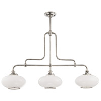 Hudson Valley 9813-PN Canton 3 Light 48 inch Polished Nickel Island Light Ceiling Light