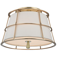 Savona 2 Light 14 inch Aged Brass Semi Flush Ceiling Light