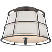 Savona 2 Light 14 inch Old Bronze Semi Flush Ceiling Light