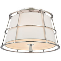 Savona 2 Light 14 inch Polished Nickel Semi Flush Ceiling Light