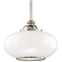 Hudson Valley 9815-PN Canton 1 Light 15 inch Polished Nickel Pendant Ceiling Light