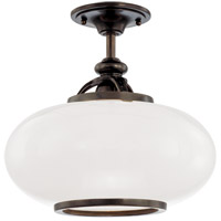 Canton 1 Light 15 inch Old Bronze Semi Flush Ceiling Light