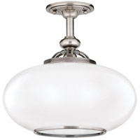 Canton 1 Light 15 inch Old Nickel Semi Flush Ceiling Light