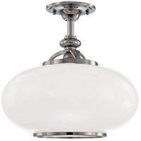 Canton 1 Light 15 inch Polished Nickel Semi Flush Ceiling Light