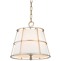 Savona 2 Light 16 inch Aged Brass Pendant Ceiling Light