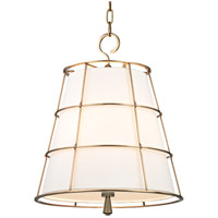 Hudson Valley Lighting Savona 3 Light Pendant in Aged Brass 9818-AGB