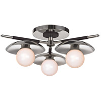 Julien LED 13 inch Polished Nickel Semi-Flush Ceiling Light, Opal Matte