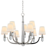 Dayton 9 Light 33 inch Polished Nickel Chandelier Ceiling Light in Eco Paper