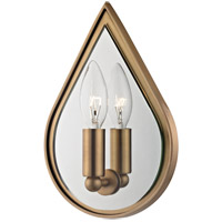 Hudson Valley Andes 1 Light Wall Sconce in Aged Brass 9900-AGB