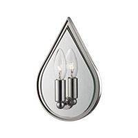 Hudson Valley Andes 1 Light Wall Sconce in Polished Nickel 9900-PN