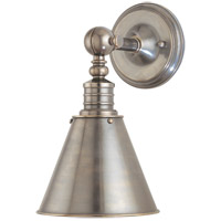 Darien 1 Light 8 inch Historic Nickel Wall Sconce Wall Light