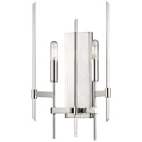 Bari 2 Light 11 inch Polished Nickel Wall Sconce Wall Light