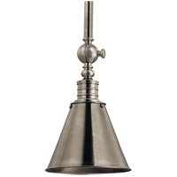 Darien 1 Light 8 inch Historic Nickel Pendant Ceiling Light