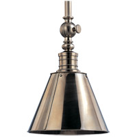 Hudson Valley Lighting Darien 1 Light Pendant in Historic Nickel 9911-HN
