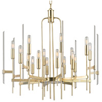Hudson Valley 9916-AGB Bari 16 Light 30 inch Aged Brass Chandelier Ceiling Light