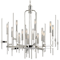 Hudson Valley 9916-PN Bari 16 Light 30 inch Polished Nickel Chandelier Ceiling Light