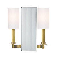 Hudson Valley Lighting Adams 2 Light Wall Sconce in Aged Brass 992-AGB
