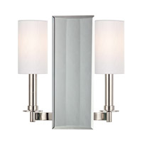 Hudson Valley Lighting Adams 2 Light Wall Sconce in Polished Nickel 992-PN