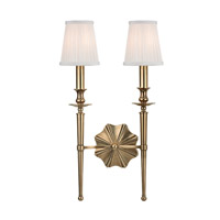Ellery 2 Light 13 inch Aged Brass Wall Sconce Wall Light