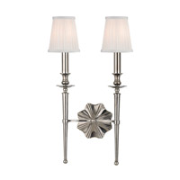 Ellery 2 Light 13 inch Historic Nickel Wall Sconce Wall Light