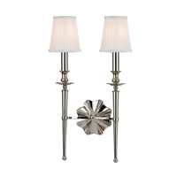 Hudson Valley Lighting Ellery 2 Light Wall Sconce in Polished Nickel 9922-PN