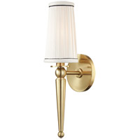 Hudson Valley 9941-AGB Cypress 1 Light 5 inch Aged Brass Wall Sconce Wall Light
