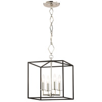 Hudson Valley BKO150-PN/BK Richie 4 Light 6 inch Polished Nickel and Textured Black Pendant Ceiling Light