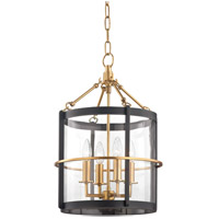Ren 4 Light 14 inch Aged Brass and Old Bronze Pendant Ceiling Light