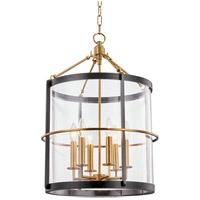 Hudson Valley BKO201-AOB Ren 6 Light 18 inch Aged Brass and Old Bronze Pendant Ceiling Light