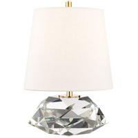 Hudson Valley L1035-AGB Henley 14 inch 100 watt Clear Table Lamp Portable Light