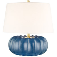 Hudson Valley L1049-SBL Bowdoin 20 inch 100 watt Slate Blue Table Lamp Portable Light
