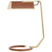 Hudson Valley L1295-AGB Holtsville 19 inch 120.00 watt Aged Brass/Saddle Table Lamp Portable Light