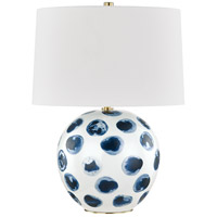 Hudson Valley L1448-WH/BD Blue Point 22 inch 120.00 watt White/Blue Dots Table Lamp Portable Light