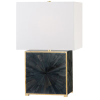Hudson Valley L1456-AGB/FDH Greenvale 23 inch 120.00 watt Aged Brass/Faux Dark Horn Table Lamp Portable Light
