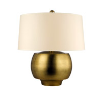 Hudson Valley Lighting Holden 1 Light Portable Table Lamp in Aged Brass with Eco Paper Shade L162-AGB