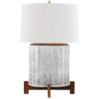 Hudson Valley L1842-AGB/OW Oakham 30 inch 120.00 watt Aged Brass/Off White Table Lamp Portable Light