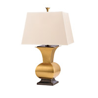 Hudson Valley Lighting Water Mill 1 Light Portable Table Lamp in Vintage Brass L472-VB photo thumbnail
