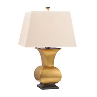 Hudson Valley Lighting Water Mill Portable Table Lamp in Vintage Brass L476-VB