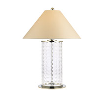 Hudson Valley Lighting Shelby 1 Light Portable Table Lamp in Polished Nickel with White Faux Silk Shade L534-PN-WS