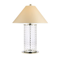 Shelby 39 inch 0 watt Polished Nickel Portable Table Lamp Portable Light in White Faux Silk