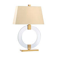 Hudson Valley Lighting Roslyn 1 Light Portable Table Lamp in Aged Brass with White Faux Silk Shade L608-AGB-WS