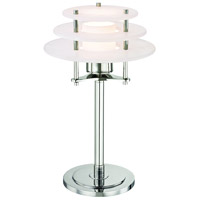 Gatsby 14 inch 12 watt Polished Nickel Desk Lamp Portable Light, Spanish Alabaster